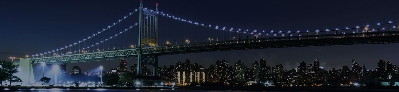 A Night Bridge View in Bronx, New York